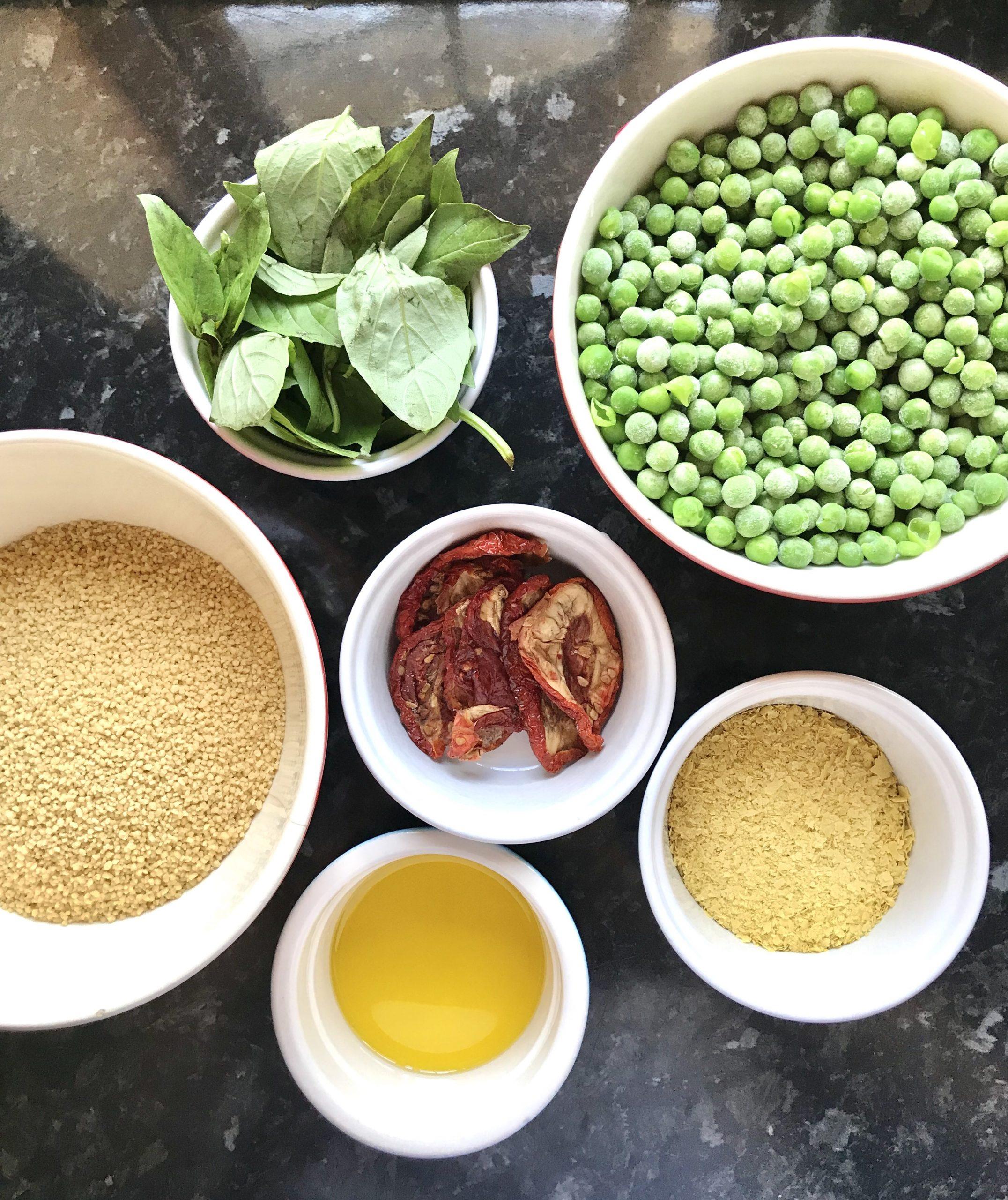 ingredients to prepare vegan gnocchi