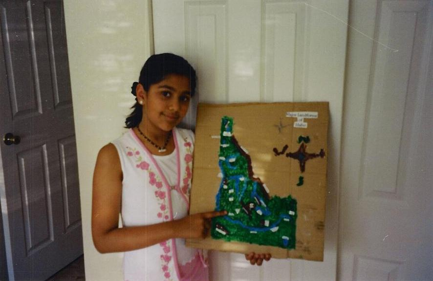 creativity, throwback. childhood, Idaho, Map, handmade, project, vasundhra, inner child, therapy